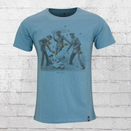 Dirty Velvet T-Shirt Armed Police blau