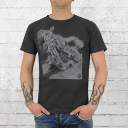Dirty Velvet T-Shirt Cross Hare anthrazit