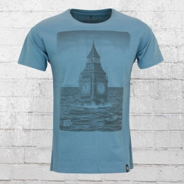 Dirty Velvet T-Shirt Herren After The Flood blau