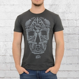 Dirty Velvet T-Shirt Herren Death Mask dunkel grau