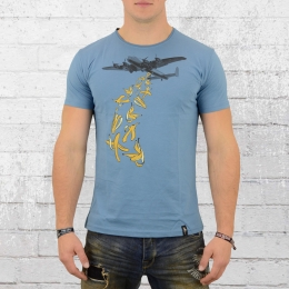 Dirty Velvet T-Shirt Männer Bombs Away blau