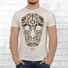 Dirty Velvet T-Shirt Männer Death Mask weiss