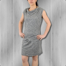Ato Berlin Kleid Dita grau meliert