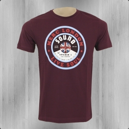 Merc London Herren T-Shirt Dunes mahagony