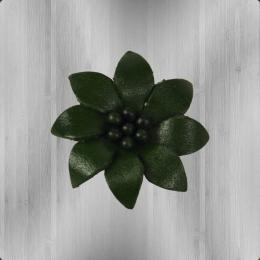 Edelweiss Echt-Leder Anstecker Blume grün