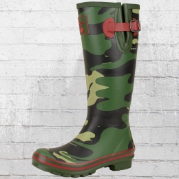 Evercreatures Frauen Gummistiefel Camo Wellies woodland