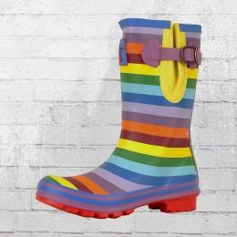 Evercreatures Frauen Gummistiefel Rainbow Short regenbogenfarben