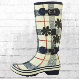 Evercreatures Karo Gummistiefel Damen Saint George navy weiss