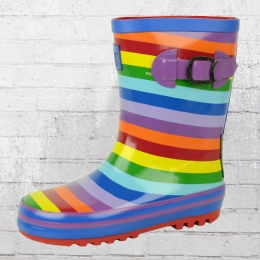 Evercreatures Kinder Gummistiefel Rainbow bunt