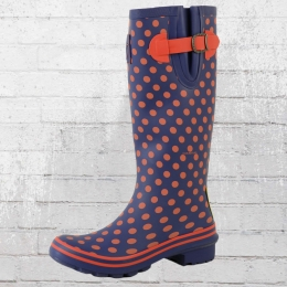 Evercreatures Multisun Dots Wellington Gummistiefel Damen navy