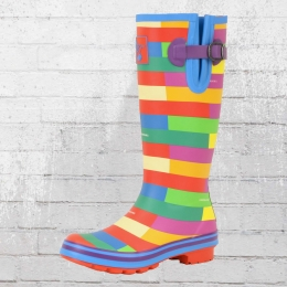 Evercreatures Wellington Frauen Gummistiefel Prism bunt
