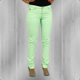 Fuga Denim Frauen Röhren Jeans Hose Felix Slim Colour neon grün