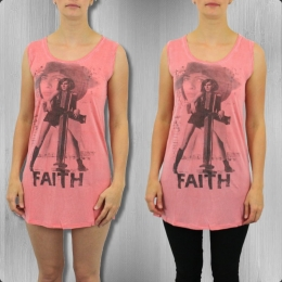 Religion Damen Longshirt Faith Vest Dress FHD 21 molton lava