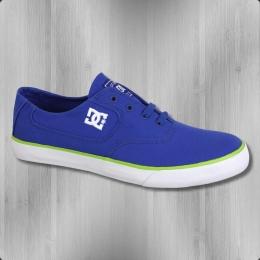 DC Shoes Herren Schuh Canvas Sneaker Flash royal blue
