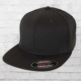 Flexfit Blanko Full Cap Flat Visor schwarz