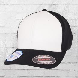 Flexfit Blanko Mütze Performance Cap schwarz weiss