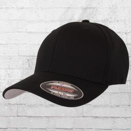 Flexfit Cap Blanko Kappe Mütze schwarz S/M
