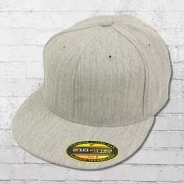 Flexfit Kappe 210 Premium Fitted Cap grau meliert