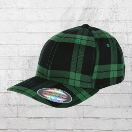Flexfit Karo Cap Tartan Plaid grün schwarz kariert L/XL