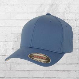Flexfit Mütze Blanko Cap schiefer-blau