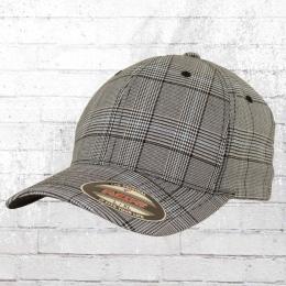Flexfit Mütze Karo Cap Glen Check grau