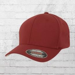 Flexfit Mütze Wooly Combed Blanko Cap rot braun
