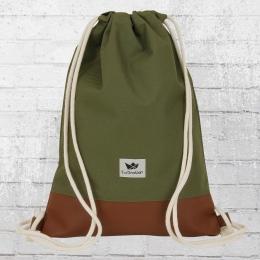 Freibeutler Gym Bag Turnbeutel Rucksack olive grün