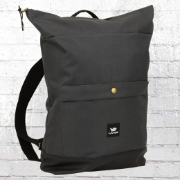 Freibeutler Laptop Rucksack Barrio Bag grau schwarz