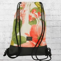 Freibeutler Rucksack Beutel Gym Bag Jette floral schwarz