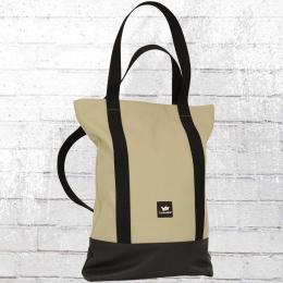 Freibeutler Rucksack Tasche Shopper Bag beige schwarz