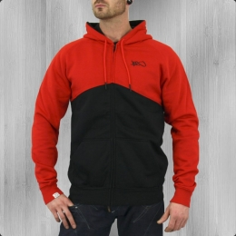 K1X Kapuzenjacke Männer Fullcourt Zipper Hoody black red