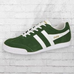Gola Herren Schuhe Harrier Suede Retro Sneaker grün weiss