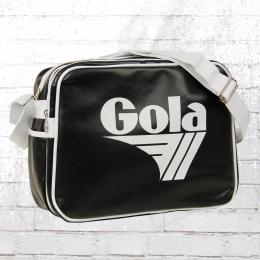 Gola Laptop Tasche Redford Alt Retro Schultertasche schwarz weiss