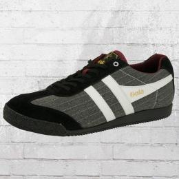 Gola Männer Schuhe Harrier Sneaker Nadelstreifen schwarz grau