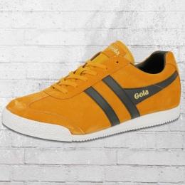 Gola Männer Schuhe Harrier Suede Retro Sneaker gelb schwarz