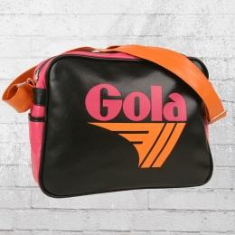 Gola Schultertasche Redford Retro Bag schwarz pink orange