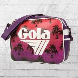 Gola Tasche Redford Palm Retro Bag Schultertasche lila bunt