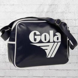 Gola Tasche Redford Retro Bag Schultertasche dunkelblau weiss