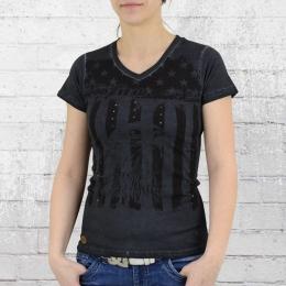 Goodyear Damen T-Shirt Celina dunkelgrau schwarz