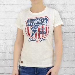 Goodyear Frauen T-Shirt Sidney creme weiss