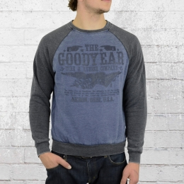 Goodyear Herren Sweater Stoney Creek navy grau vintage