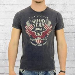 Goodyear Herren T-Shirt Jamestown vintage blau
