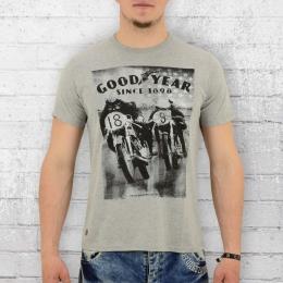 Goodyear T-Shirt Männer Buffalo grau meliert