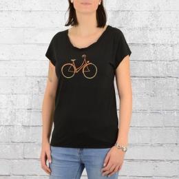 Greenbomb Fahrrad Damen T-Shirt Bike Charming schwarz