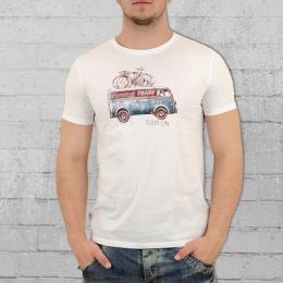 Greenbomb Fahrrad Männer T-Shirt Bike On Tour weiss