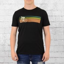 Greenbomb Fahrrad T-Shirt Bike Speed schwarz
