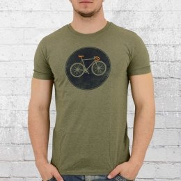 Greenbomb Fahrrad T-Shirt Rennrad Bike Shield grün melange