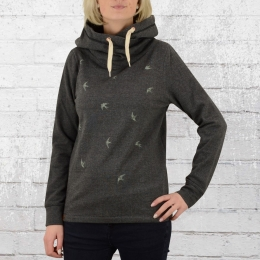 Greenbomb Frauen Kapuzensweater Animal Swallows Air anthrazit