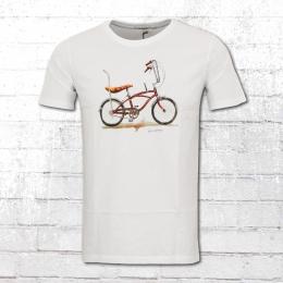Greenbomb Herren Shirt Bike Banana weiss