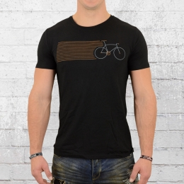 Greenbomb Herren T-Shirt Bike Stripes schwarz